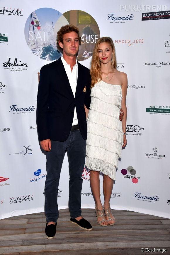 Pierre Casiraghi et sa fiancée Béatrice Borromeo, samedi 6 juin 2015 à Monaco.
