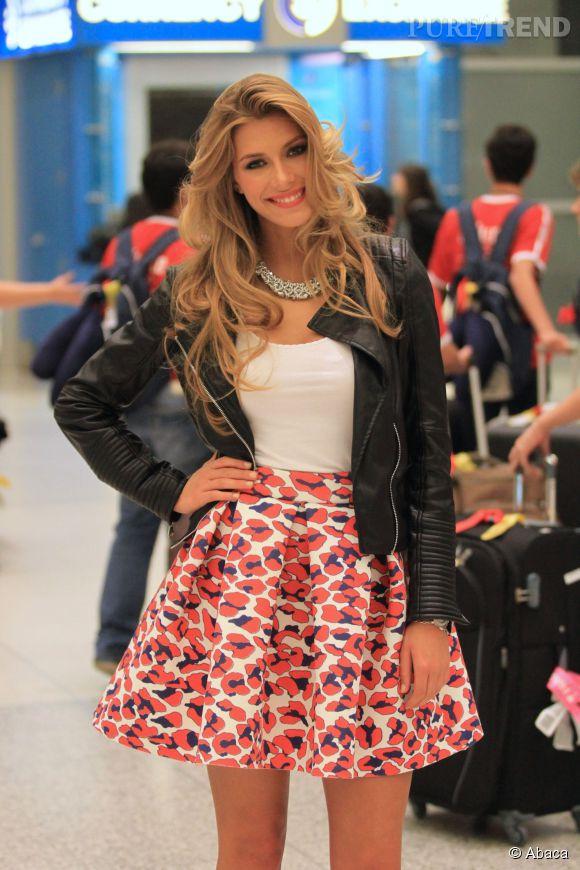 Camille Cerf charme pour l'élection Miss Tahiti 2015.