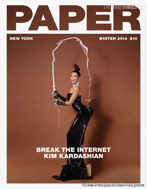 Kim Kardashian en couverture de Paper Magazine.