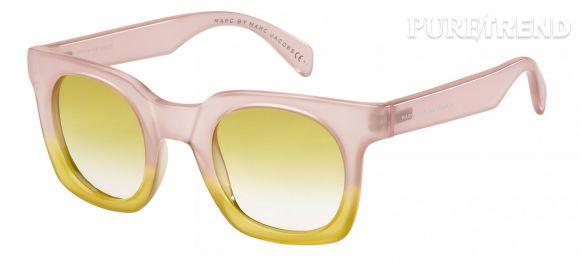 Rose, jaune, bleu, les couleurs pastel donnent une allure seventies aux lunettes de soleil.