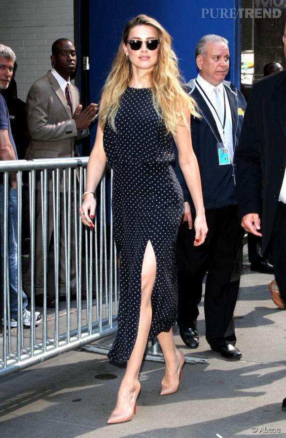 Amber Heard était ce lundi 22 juin à New York.