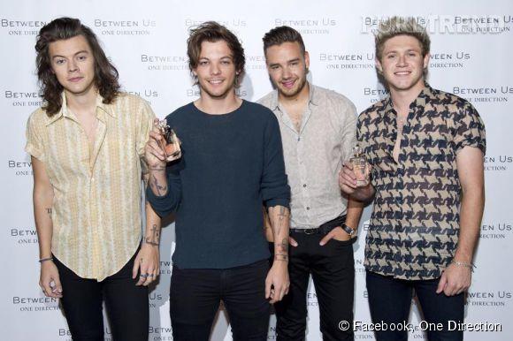 """Les One Direction sortent leur quatrième parfum, """"Between Us""""."""