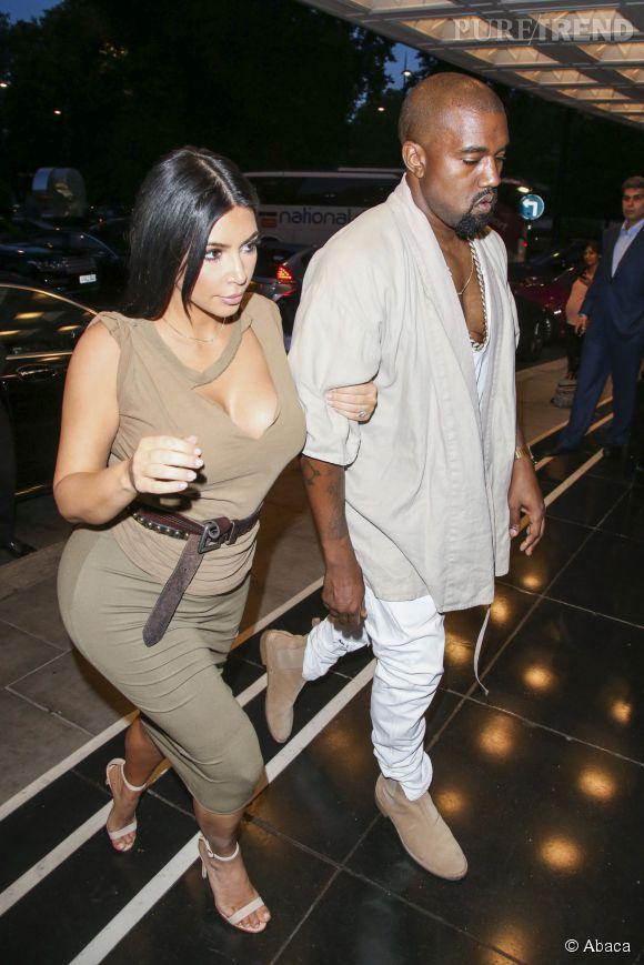 Kim Kardashian et Kanye West s'offre une petite escapade à Londres.