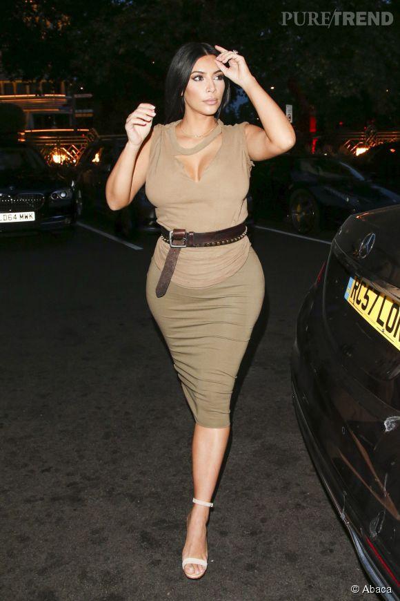 Kim Kardashian à Londres le 25 juin 2015.