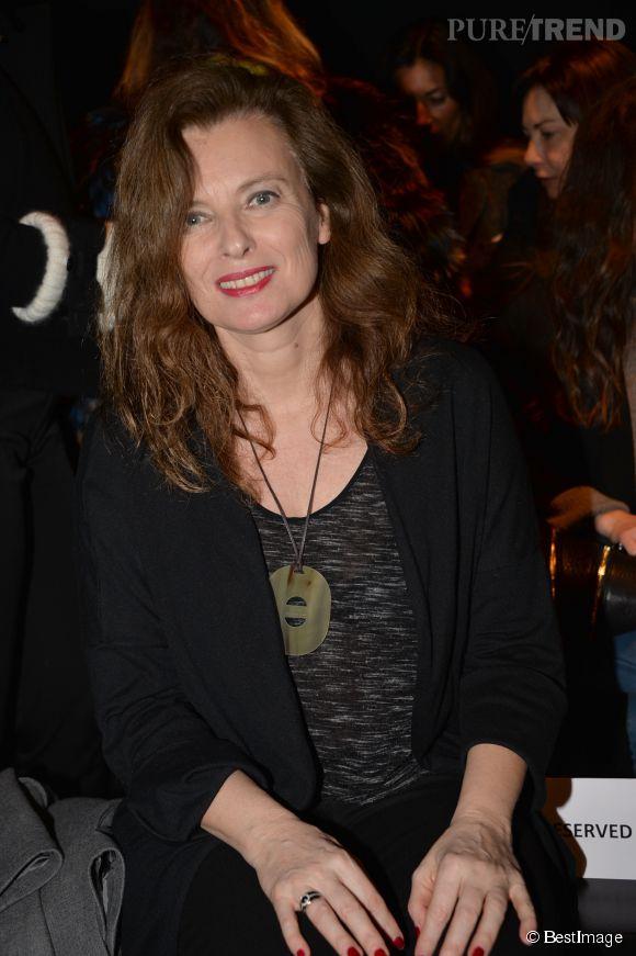 Valérie Trierweiler au défilé Paul & Joe collection automne-hiver 2015-2016, en mars dernier.