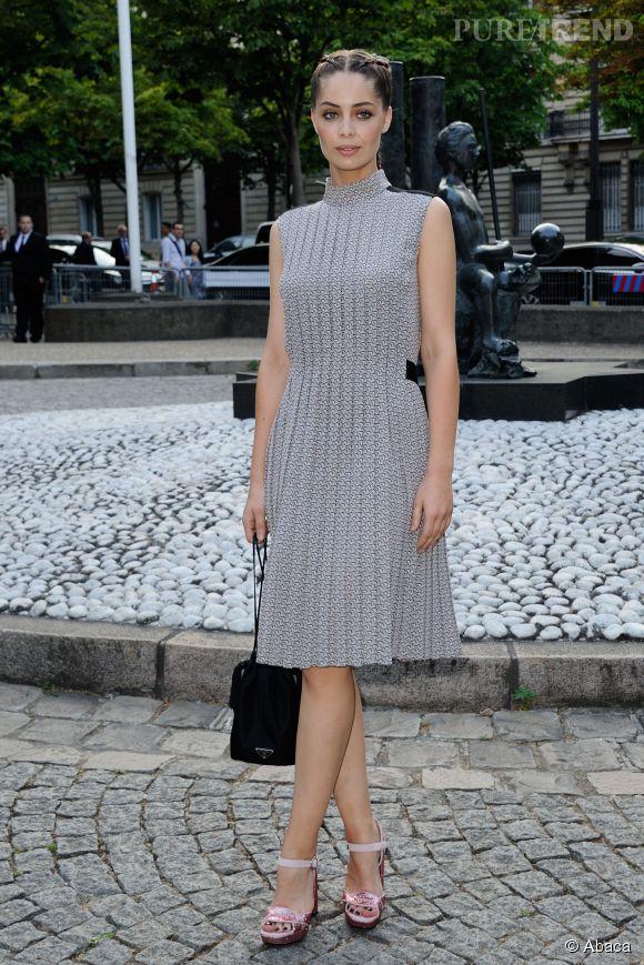 Marie-Ange Casta en Miu Miu Club le 4 juillet 2015 à Paris.