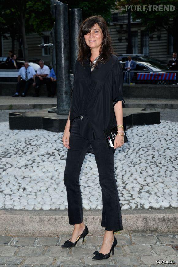 Emmanuelle Alt au Miu Miu Club pour célébrer le lancement du premier parfum de Miu Miu et la collection Croisière 2016 au Palais d'Iena le 4 juillet 2015 à Paris.