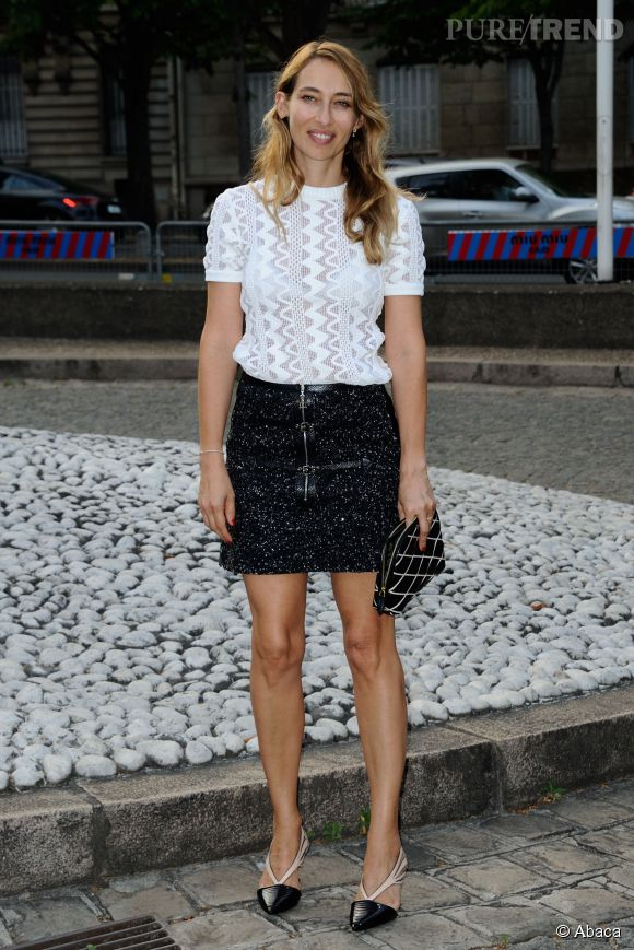 Alexandra Golovanoff au Miu Miu Club pour célébrer le lancement du premier parfum de Miu Miu et la collection Croisière 2016 au Palais d'Iena le 4 juillet 2015 à Paris.