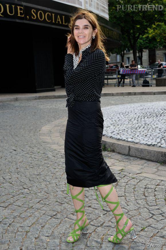 Carine Roitfeld au Miu Miu Club pour célébrer le lancement du premier parfum de Miu Miu et la collection Croisière 2016 au Palais d'Iena le 4 juillet 2015 à Paris.