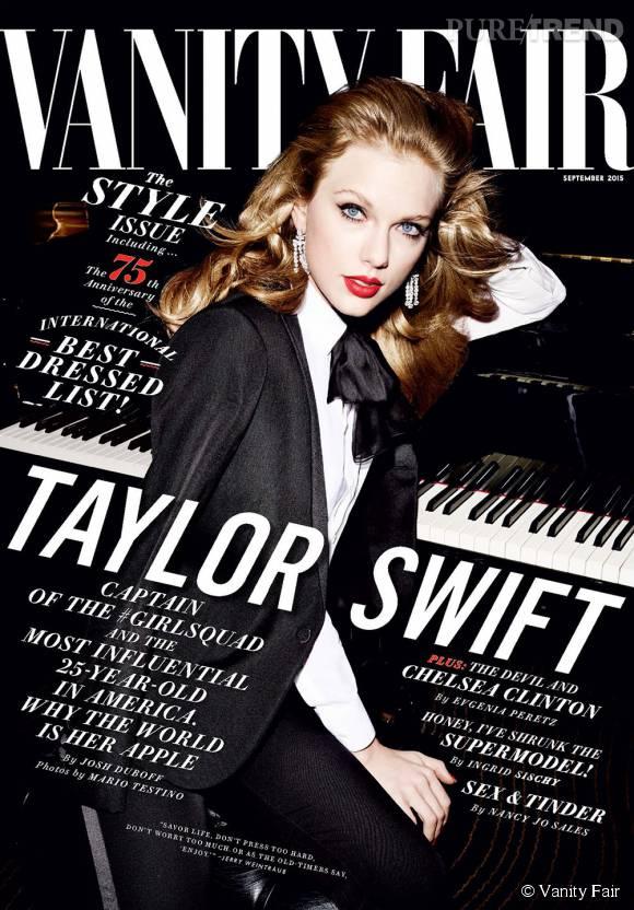 Taylor Swift en une du September Issue de Vanity Fair.