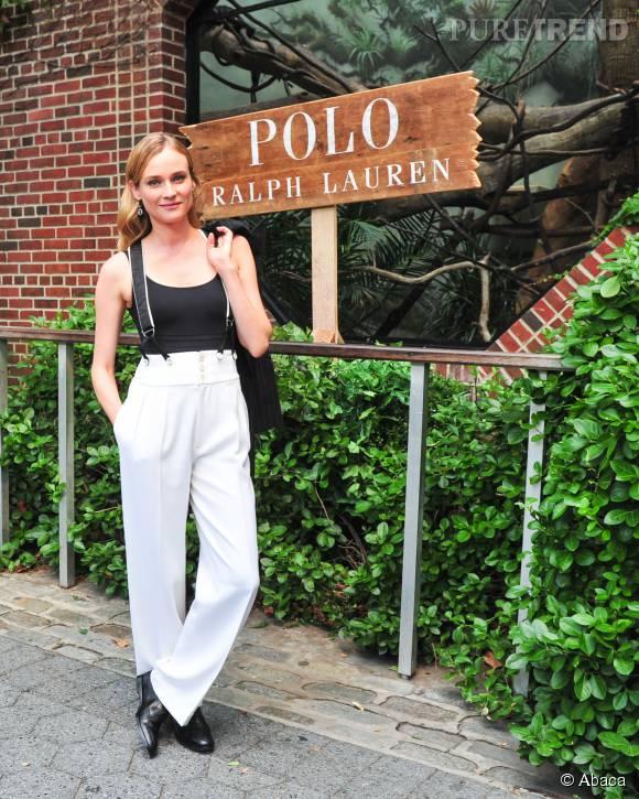 Diane Kruger, ravissante dans sa tenue boyish pour un défilé de mode enfant à New York le 5 août dernier.