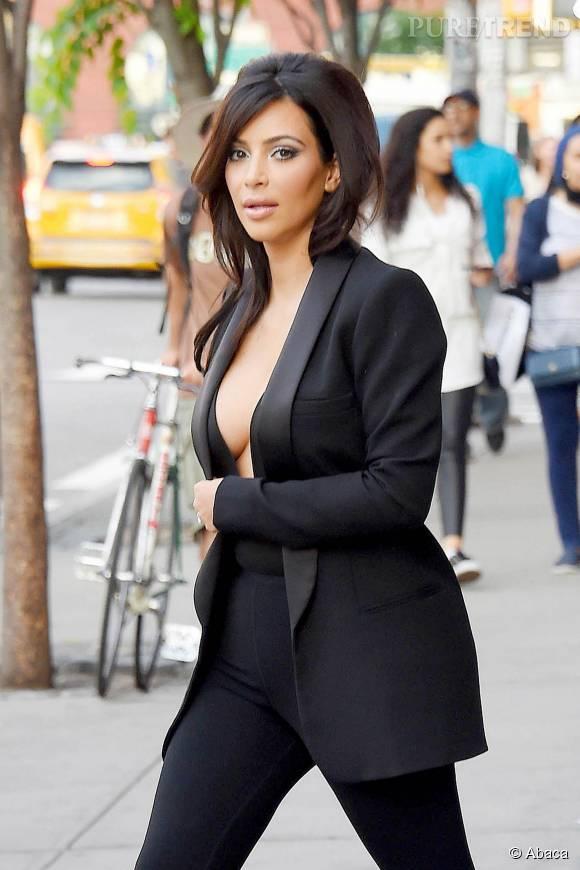 Kim Kardashian a posté une étrange photo de ses seins sur Instagram, dimanche 9 août 2015.