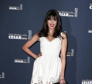 Nolwenn Leroy, renversante en robe blanche ajourée pour les César 2015.