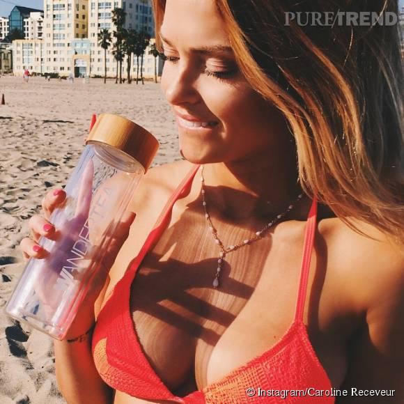 Caroline Receveur se montre à moitié nue sur Instagram pour faire la publicité de son thé détox.