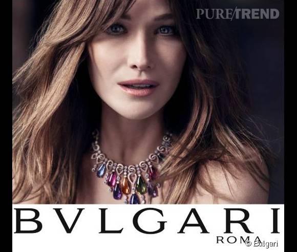 Carla Bruni, glamour à souhait pour Bulgari.