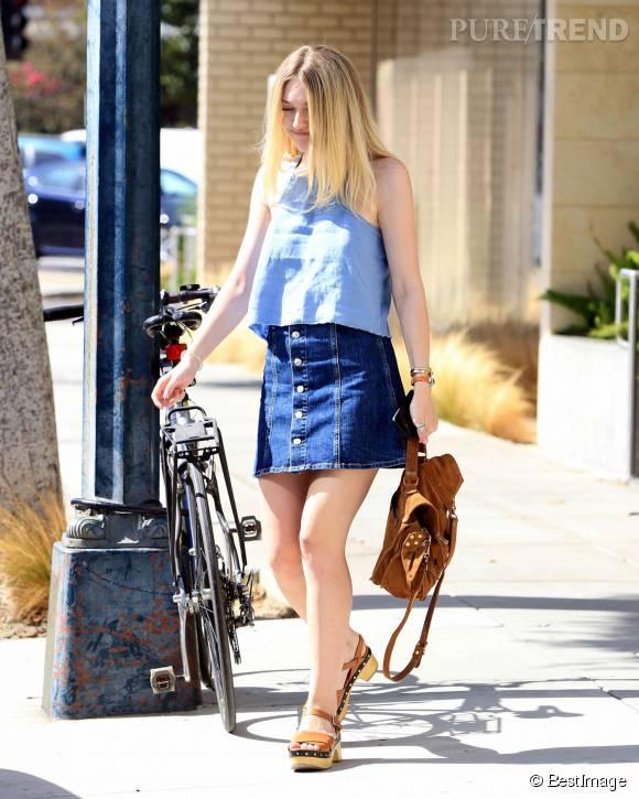 Dakota Fanning est prête à profiter de la fin de l'été.