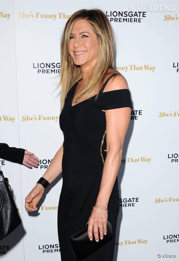 """Jennifer Aniston à la première du film"""" She's Funny That Way"""" à Hollywood le 19 août 2015."""