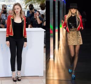 Sara Forestier vs Cara Delevingne : le blazer militaire Saint Laurent