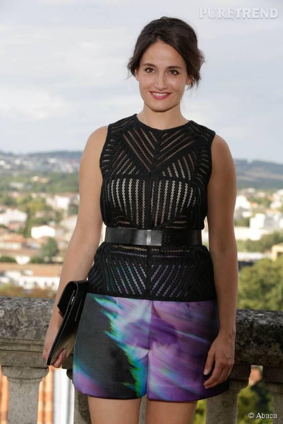 Marie Gillain prend la pose lors de la première journée du Festival du film d'Angoulême le 25 août 2015.