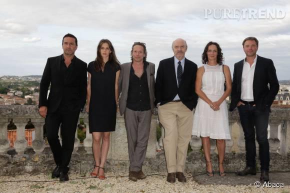 """L'actrice est au casting du film """"Belles famille"""" de Jean-Paul Rappeneau."""