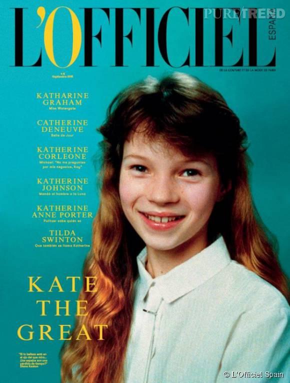Pour son tout premier numéro, L'Officiel Espagne mise sur une photo de Kate Moss dans les années 80, avant la gloire.