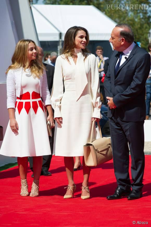 Rania de Jordanie et sa fille, un duo glamour à souhait sur le tapis rouge.