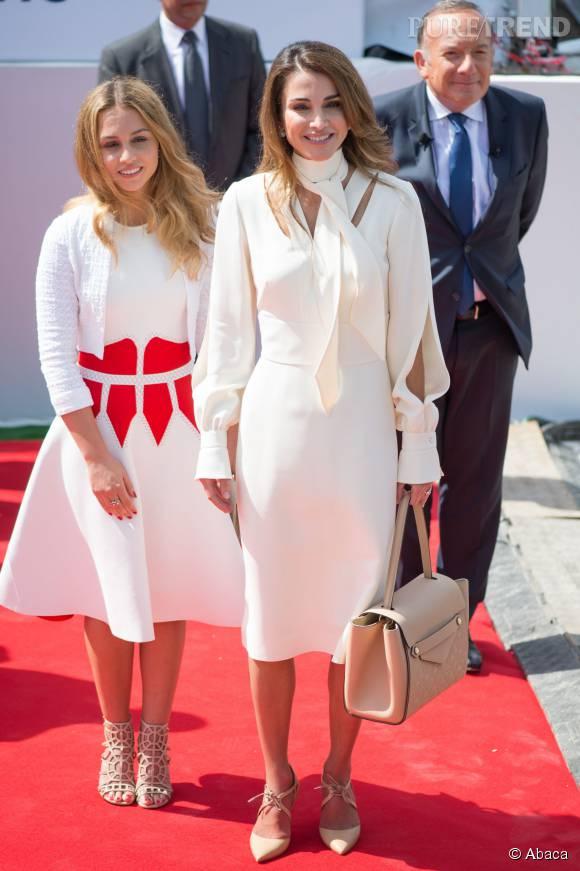 Rania de Jordanie et sa fille, la princesse Iman, ont assisté hier à la première journée de l'université d'été du Medef.