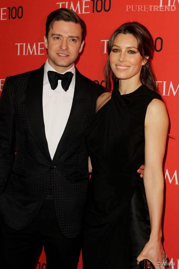Jessica Biel et Justin Timberlake, couple glamour et uni.