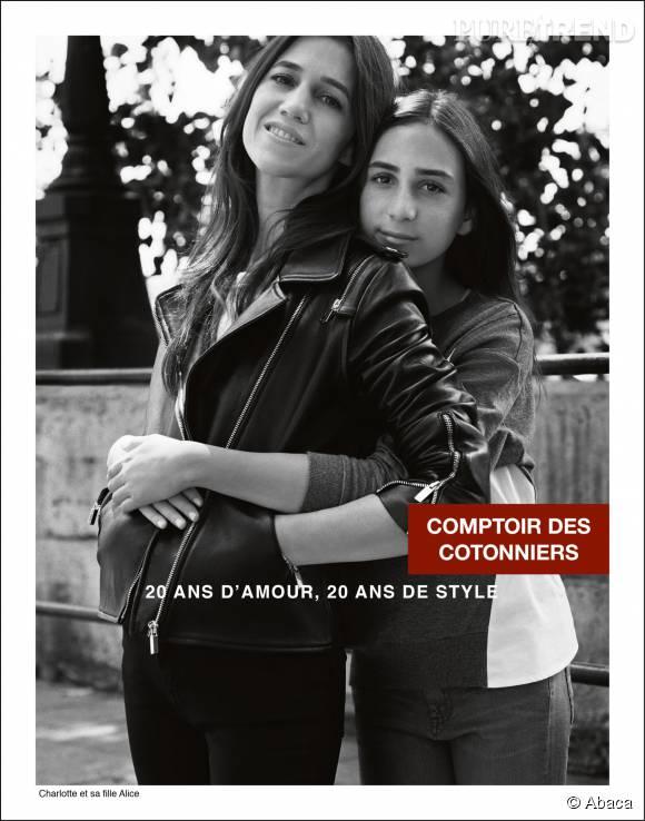 Charlotte Gainsbourg et Alice, un duo mère-fille dans l'air du temps.