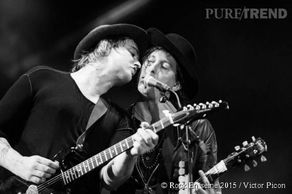 Les Libertines de Peter Doherty et Carl Barât sur la grande scène, l'un des shows les plus attendus de cette édition 2015 de Rock en Seine.