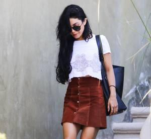 Vanessa Hudgens : la jupe en daim pour une rentrée seventies... A shopper !