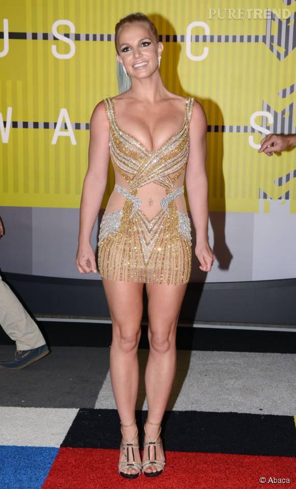 Britney Spears en Labourjoisie aux MTV VMA le 30 août 2015 à Los Angeles.