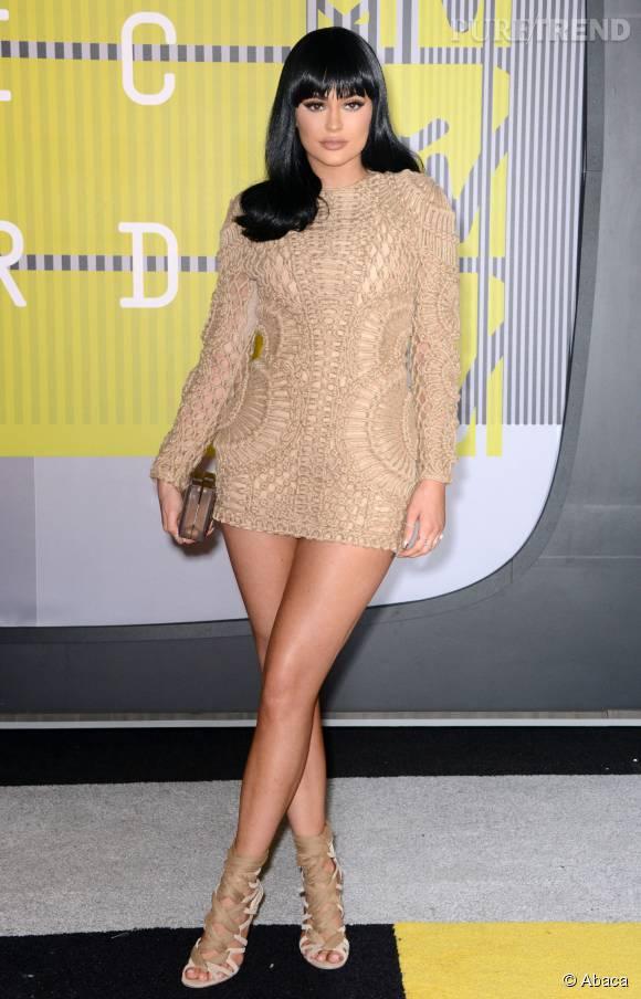 Kylie Jenner en Balmain aux MTV VMA le 30 août 2015 à Los Angeles.