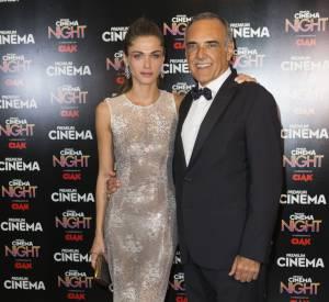 Elisa Sednaoui aux côtés du directeur de la Mostra, Alberto Barbera.