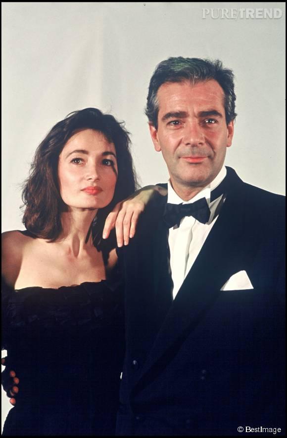 Evelyne Bouix et Pierre Arditi sur une photo d'archive du festival de Cannes.