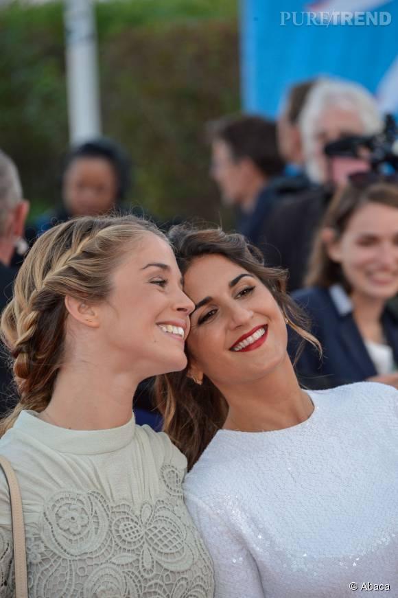 """Alice Isaaz et Géraldine Nakache à la première de """"Jamais entre amis"""" au Festival du Film américain de Deauville le 6 septembre 2015."""