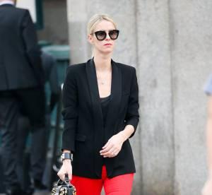 Nicky Hilton : son look rouge et noir... A shopper !