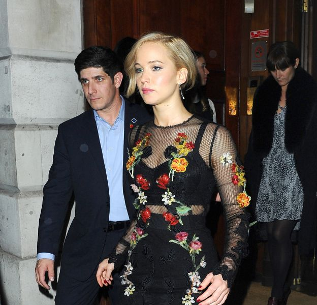 Jennifer Lawrence à Londres le 6 novembre 2015.