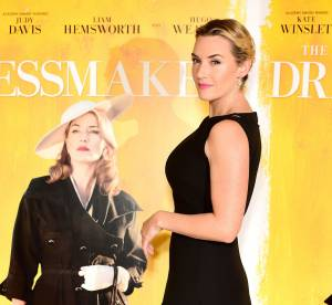 Kate Winslet, quarantenaire radieuse et très sexy dans sa petite robe noire