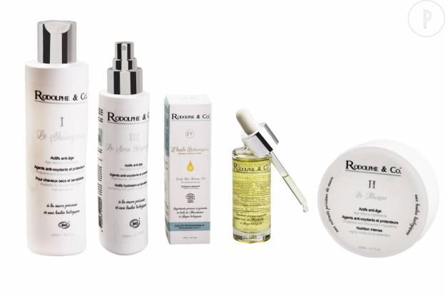 La marque Rodolphe&Co. : marque de produits capillaires bio à destination des professionnels.