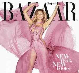 Kate Hudson : l'heureuse célibataire, belle à tomber en une de Harper's Bazaar