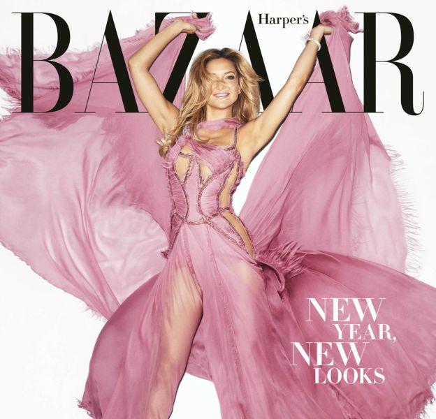 Kate Hudson : sublime célibataire en une du Harper's Bazaar.
