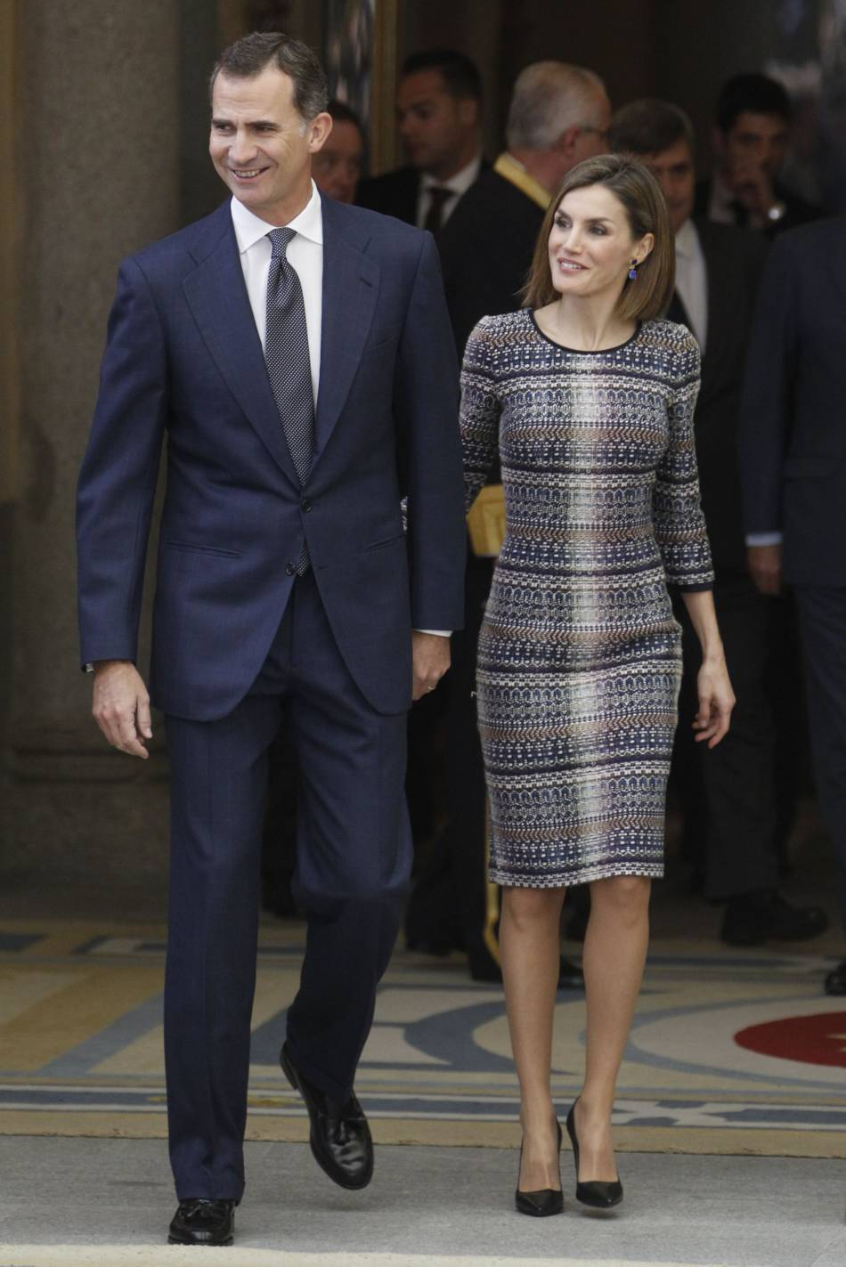 Le roi Felipe et Letizia d'Espagne au Prado pour les National Sports Awards.