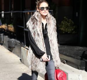 Olivia Palermo : leçon de style en fausse fourrure, à shopper !