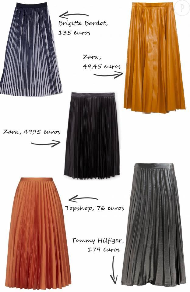 Comment porter la jupe plissée longueur midi ?