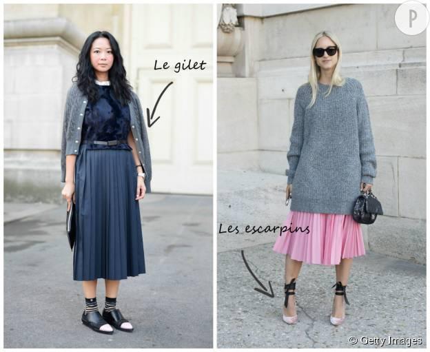 Comment porter la jupe plissée ? L'ordonnance mode de la
