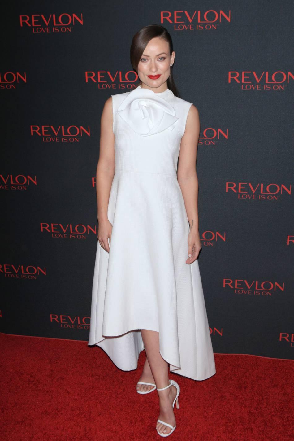"""Olivia Wilde, mercredi à la soirée """"Love is on"""" de Revlon, à New York."""