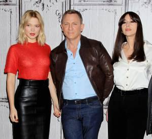 """Léa Seydoux, Daniel Craig et Monica Bellucci, le trio de choc de """"007 Spectre""""."""