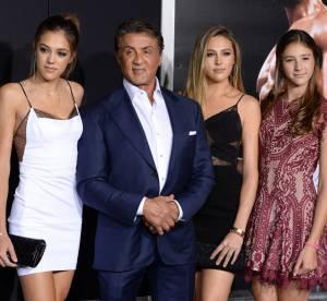 Sylvester Stallone, ses trois filles canons lui piquent (encore) la vedette