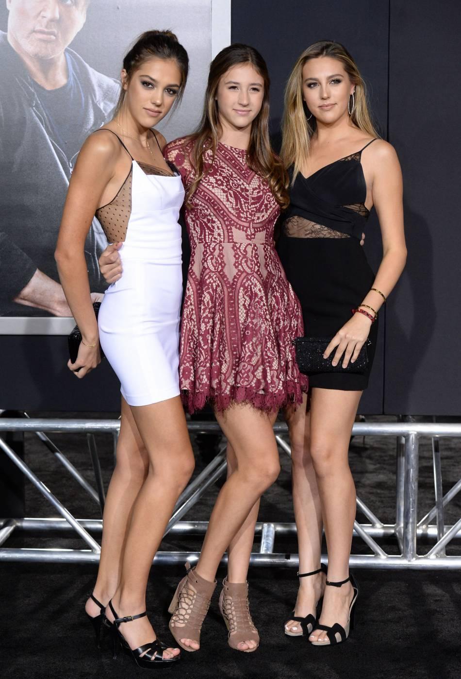 Sistine Rose, Scarlet Rose et Sophia Rose Stallone, les trois filles de Sylvester et de Jennifer Flavin.